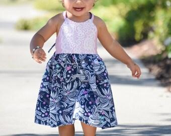 Little Girl Dresses, Toddler Dresses, Boho Baby, Little Girl Dress, Boutique Dresses, Bird Dress, Pink Dress, Blue Dress