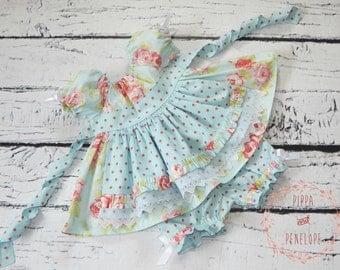 Toddler Dress, Boutique Dress, Vintage Style Toddler Dress, Girls Floral Dress, Baby Dress, Baby Boutique Dresses, OOAK, Size 2T