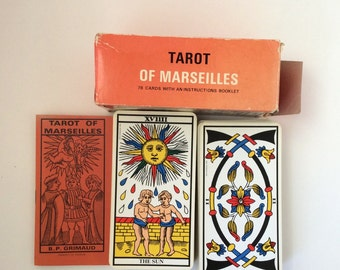 Vintage Tarot of Marseilles, Made in France, Complete with Instructions