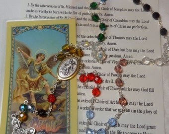 St. Michael The Archangel~The Chaplet (Crown) of St. Michael~Rosary Chaplet,St of military,St of grocers,St paratroopers,St police officers,