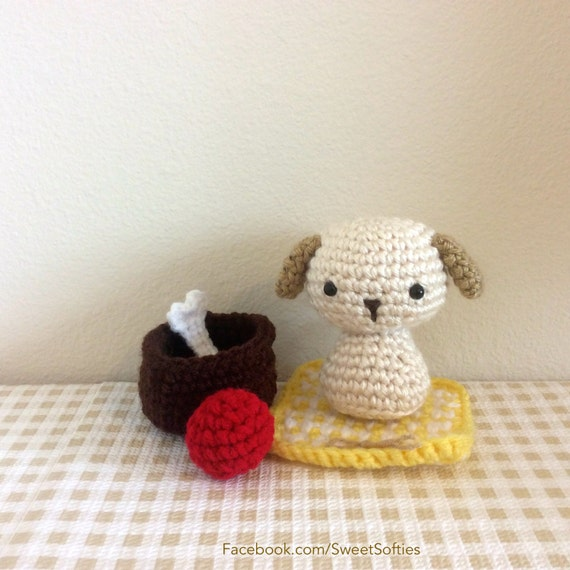 Amigurumi Pattern Crochet Animal Dog Chibi Kokeshi Doll By