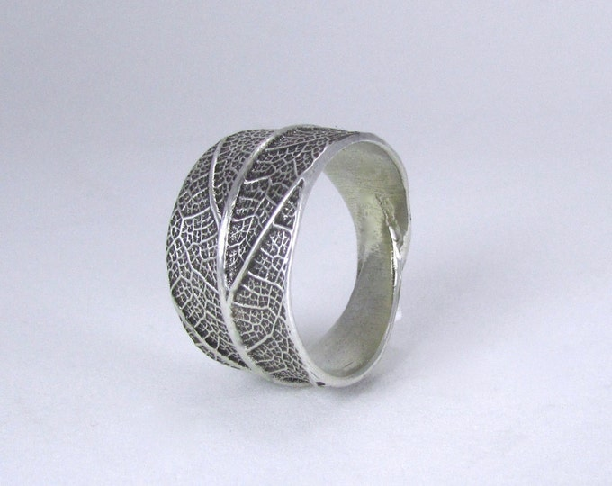 Leaf Ring Sterling Silver - handmade