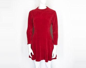 90s Kookaï Velour Mini Dress