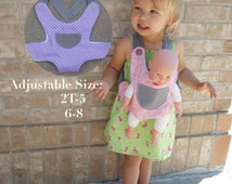 Baby Doll Carrier Stuffed Animal Carrier Kid Toddler Big Sister Big Brother Gift American Girl