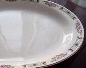 REDUCED!!!!! Homer Laughlin Empress Pattern Stoneware Platter,China, Oval Serving Platter, Mid Century Farmhouse Kitchen, Serving Plate