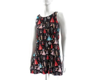 Nicole Miller Collection  Barbie Print Mini Dress  Girls Size 14 All Rayon