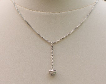 Sterling Silver Pierced Heart Pendant on 925 Silver Chain Necklace