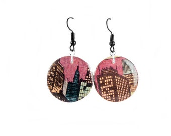 Comic book earrings- made from authentic comics!  (Certificate included.)