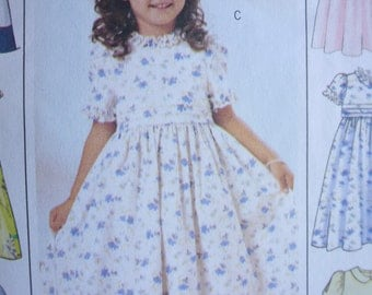 Butterick 3762 Girls Dress In Six Sew Easy Designs Sizes 2-3-4-5 Available  PATTERN IS UNCUT