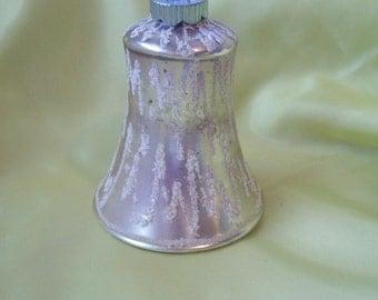 Vintage Shiny Brite Christmas Ornament Mercury Glass Christmas Bell Ornament  circa 1960s