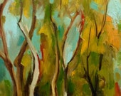 Oil painting of autumn nature. Original oil painting. Ready to ship.