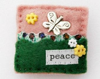 Butterfly brooch - butterfly gifts - butterfly garden - peace - butterfly jewellery - hand sewn felt brooch