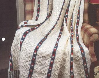 Southwest Geometrics Crochet Afghan Blanket Pattern, Home Decor, Sofa Throw, Southwest Decor, Bedspead, Bedding, Annie's Crochet Quilt
