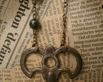 Steampunk Skeleton Key Necklace Steampunk Necklace Vintage Necklace