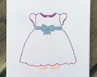 Baby Girl Dress Stitched on Canvas