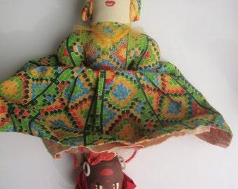 "Vintage: 1940's - 50's TOPSEY-TURVEY 13""  doll"