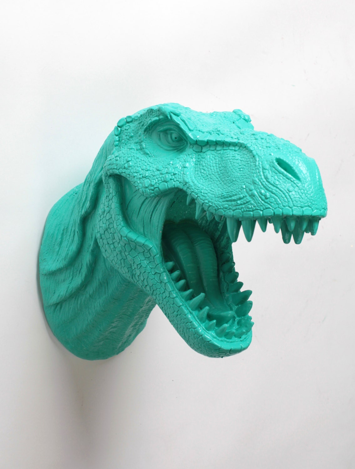 Dinosaur Head Wall Mount The Crowley Turquoise Resin T Rex