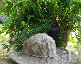 Saratoga Race Track Hat / Hats Off Saratoga / Sun Hat / Cotton Hat / Derby Hat / Wide brim Hat / Large brim hat / New Color: STONE