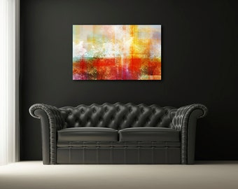 """48""""  x 32"""" Earth tone abstract art gallery wrap canvas  print of painting floater framed, Wall Art, Contemporary art, modern art, large art"""
