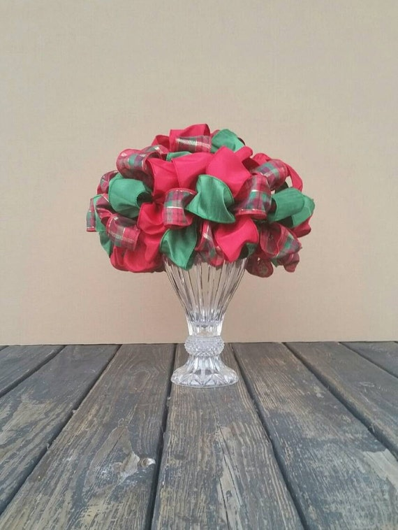 Christmas Tree Topper, Red and Green Tree Topper