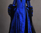 Into the Woods Witch Black Blue Child/Adult Cosplay Costume Gown Dress