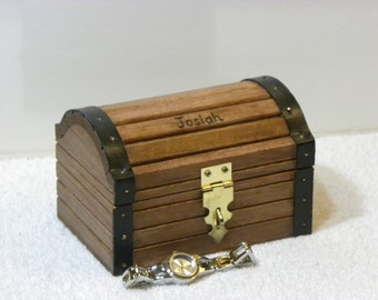 Personalized sea turtle treasure chest keepsake box jewelry for Jewelry box with initials