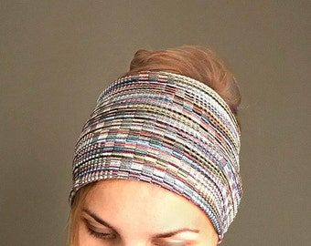 Boho Headwrap extra wide headband fall fashion head band tapered wide headband autumn headgear hairband top selling turban bandana