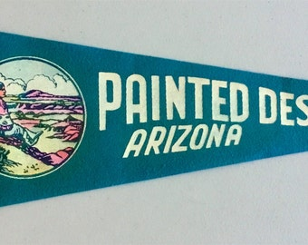 Vintage 'Painted Desert, Arizona' Pennant