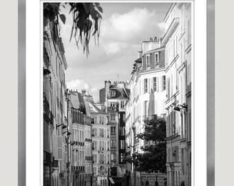Black and white Paris print, large wall art Paris photography architecture art print, living room art paris poster 11x14, 12x16 print 16x20