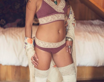 Custom made to order Lacey Sitara Panties Organic Hemp and cotton dyed with herbs