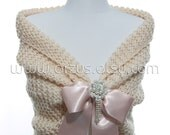 Wedding Shawl Bridal Shawl Bridal Wedding Cape Nude Pink Shawl Hand Knit Shawl Rose Cape Wedding Capelet Shrug Bolero Bridesmaids Gift Shawl
