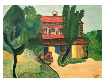 Old Family Home, original acrylic painting on canvas