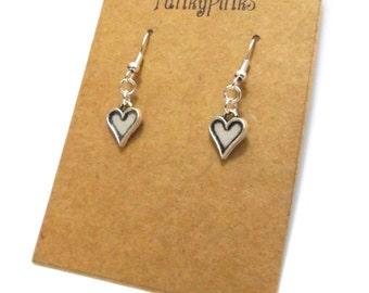 Valentines Earrings, Heart Earrings, Heart Jewellery, Love Heart Earrings, Love Heart Jewellery, Valentines Jewellery, Bridesmaid Jewellery
