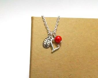 Ladybird Necklace or Ladybird Bracelet, Ladybug Necklace, Ladybug Bracelet, Gift For Gardener, Garden Gift, Ladybird Jewellery