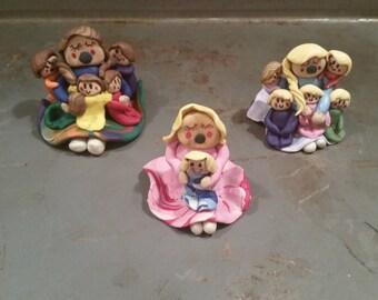 Custom made story teller doll