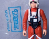 Vintage Star Wars China Luke X-Wing Pilot C8 100% Complete with China Kenner Bag