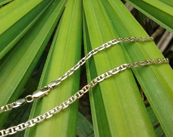 14kt Yellow Gold Italian Marine Link Chain Necklace A370