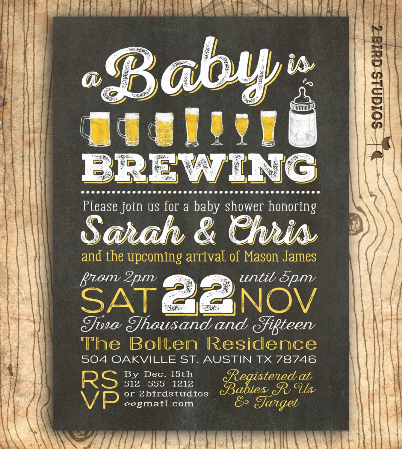 coed baby shower  etsy, Baby shower invitations
