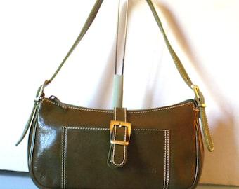 Made in Italy Barberini's Olive Green Petite Handbag
