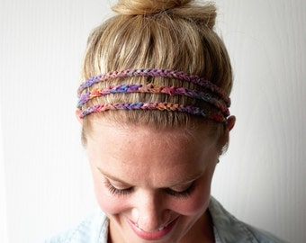 Crochet Fashion Headband Unique Boho Hair Accessory