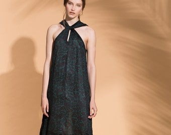 Evening Dress, Printed Evening dress, Evening gown