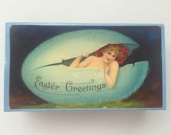 Easter Greetings Altered Matchbox
