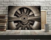 CANVAS // Airplane Propeller //  Oversized Canvas, Large Wall Art, Home Decor, Modern Art, Decoration, Aviation, Aviator Plane, Propeller