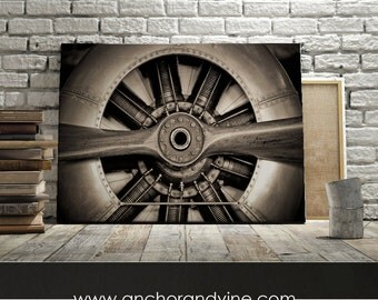 Canvas Airplane Propeller Oversized Canvas Large Wall Art Home Decor