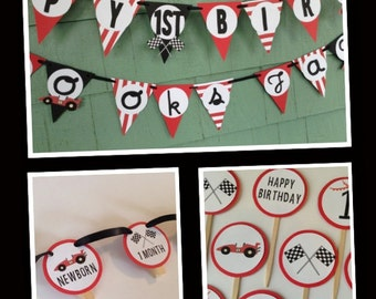 Race Car birthday party SET racing party decorations