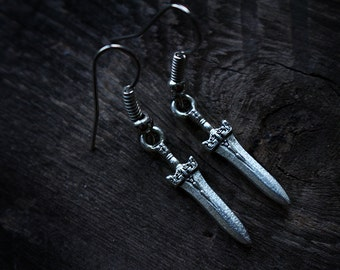 Athame • Mini Dagger Earrings