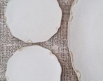 FLAT PLATE (dia. 12 cm), matt white, food photography, food styling