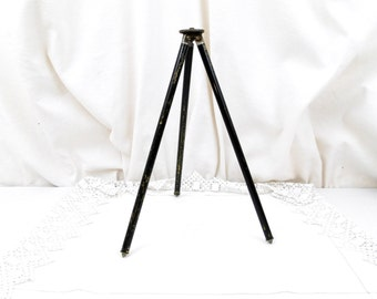 Antique Metal Telescopic Brass Photography Tripod, Camera Accessories, Photo Equipment, Folding, Folding Camera, Vintage, Retro Home, Photo