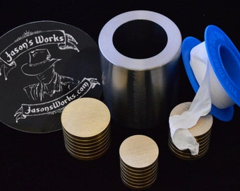 One .8 x 1.1 Swedish Wrap Kit for Half Dollar Sized Coins and the Smallest Dollar Sized  Coins
