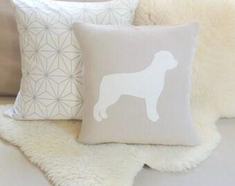 Rottweiler Dog Pillow Cover - Rustic Modern